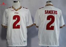 Nike Florida State Seminoles (FSU) Deion Sanders 2 College Boxing Jerseys -Black Size M,L,XL,2XL,3XL(China)