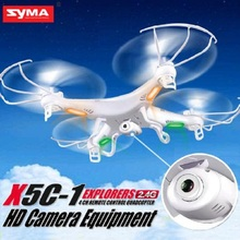 Syma X5C-1 2.4G 4CH 6-Axis Gyro Quadcopter Drone UAV RTF Airplane Toy White With 2MP HD Camera 4GB Upgraded Version White