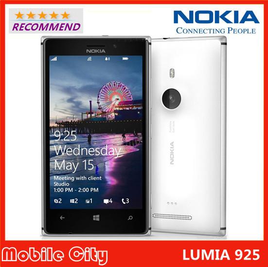 Original Refurbished Unlocked Nokia Lumia 925 Dual Core 1GB RAM 8MP Camera 4.5inch Touch Screen Microsoft Windows 8 Smart Phone(China (Mainland))