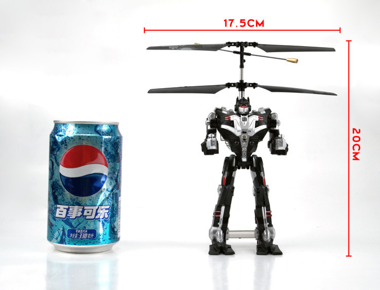 2015 newRobot wireless remote control helicopter LQB 9985 robot helicopter flying helicopter 3 files(China (Mainland))