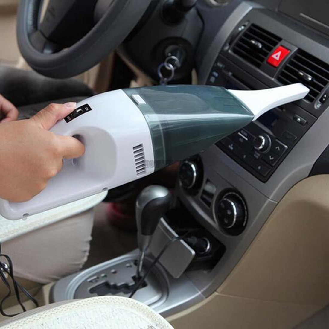 free shipping Handheld Portable Dust Vacuum Cleaner Wet Dry Dual-Use 12V 60W Car Vacuum Cleaner Car Accessories(China (Mainland))