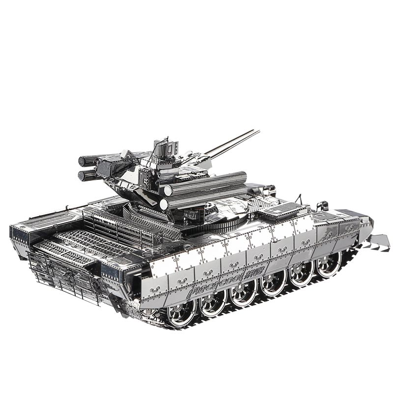 Piececool 3D Metal Puzzle Assembling War Military Tank Truck Model Building Puzzle Home Furnishing Creative gifts DIY Kid TOYS(China (Mainland))