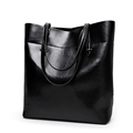 Practical Large Tote Ladies Occident Style Hand Bag Solid Color Splicing Bag Women Trendy All match