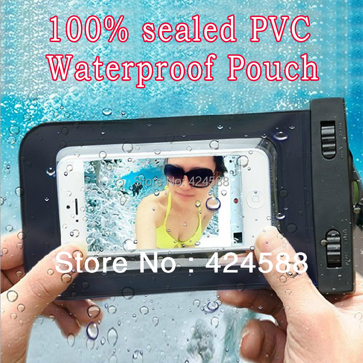 100% sealed Waterproof Case For iPhone 5 5s 4 4s for touch 5 Pouch for galaxy s4/3 Water proof Bag Underwater back cover(China (Mainland))