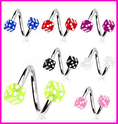 Acrylic anti allergic S curved lip nail eyebrow body jewelry nose ring nose piercing nose piercing piercing nombril nose ring(China (Mainland))