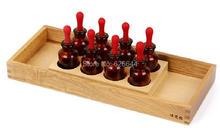 Preschool Montessori Materials-Tasting Exercise With Tray 8 Bottles & Droppers Sensorial jogos educativos(China (Mainland))