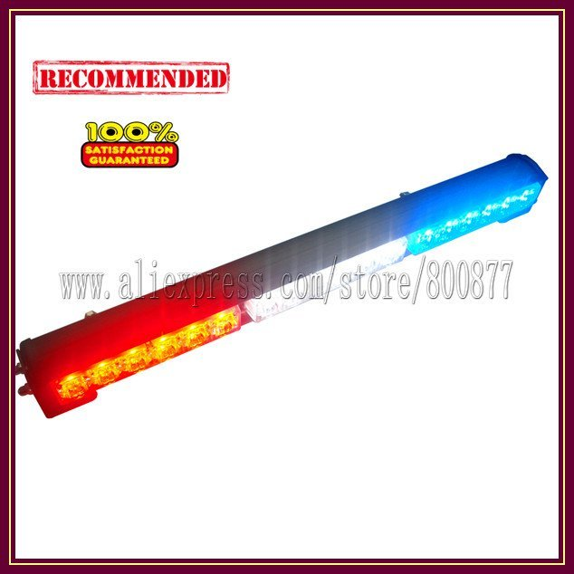LED exterior light for car, Car LED stick lights, 18pcs Gen3 1W LED, High brightness, 5 flash pattern, PC lens (SA-618-3)