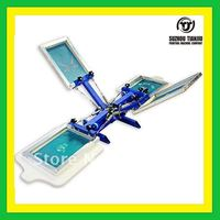 TJ Low price Desktop manual 4 color 2 station t shirts screen printing machine 2016 Newly