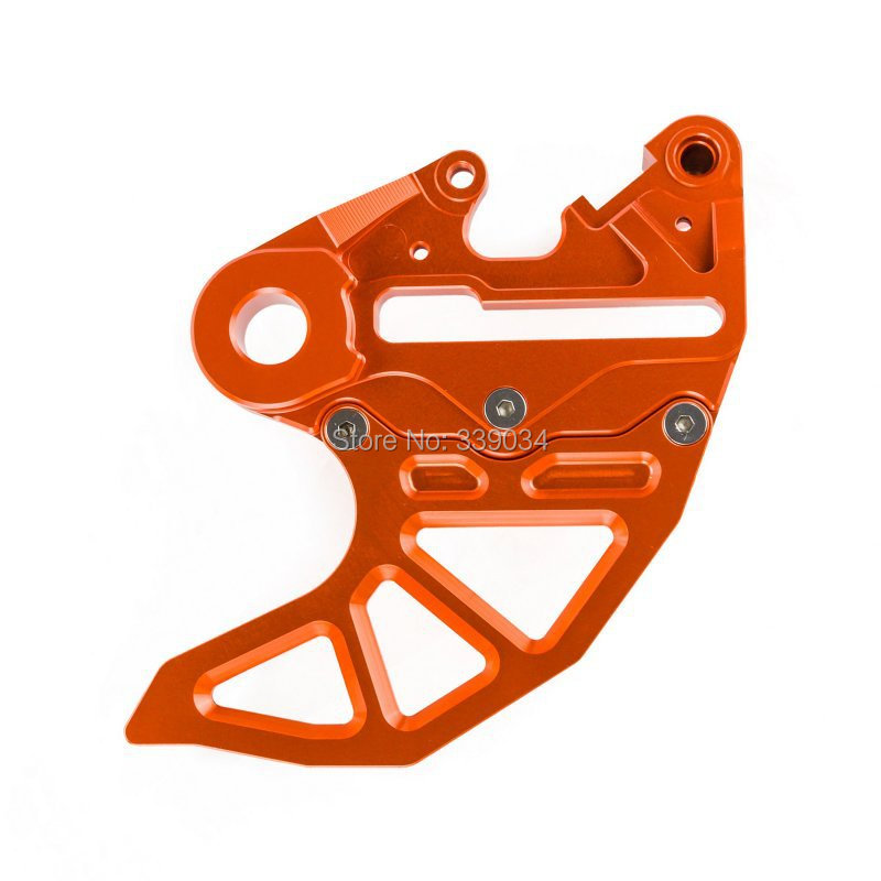 Фотография NEW FOR KTM 125-530 SX/EXC 2004-2015 CNC BRAKE CALIPER SUPPORT WITH BRAKE DISC GUARD