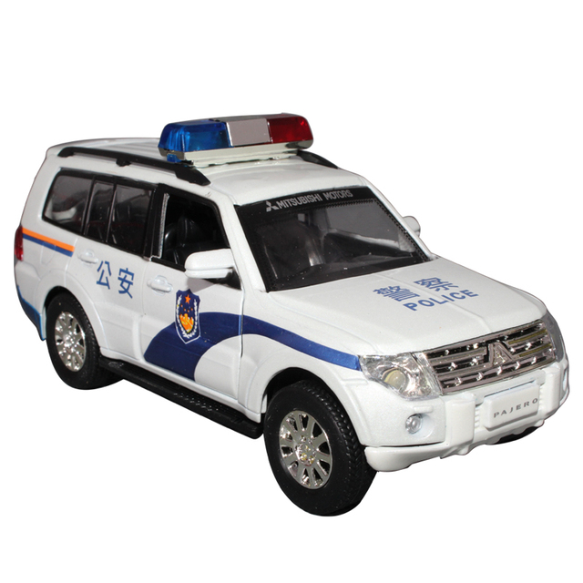 free shipping MITSUBISHI pagerlo police car toy car alloy car models alloy car toy open the door