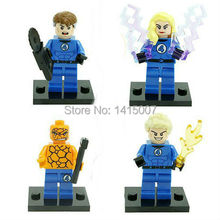 10pcs/lot super heroes Fantastic four action figure Thing Building Bricks Blocks Minifigure Toys Gift Compatible With