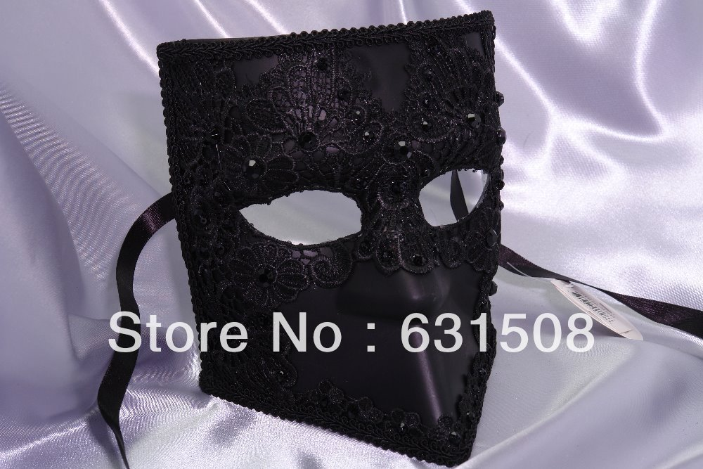 Venetian Party masks Lace mask venetian Masquerade Wedding MasqueradeM2612BLACK3