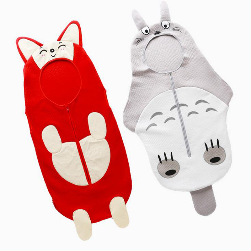 2016 Animal style Baby Sleep Bag Totoro Baby Boy's Sleep Sack Newborn 100% cotton 0-24 months baby girls Blanket Swaddle(China (Mainland))