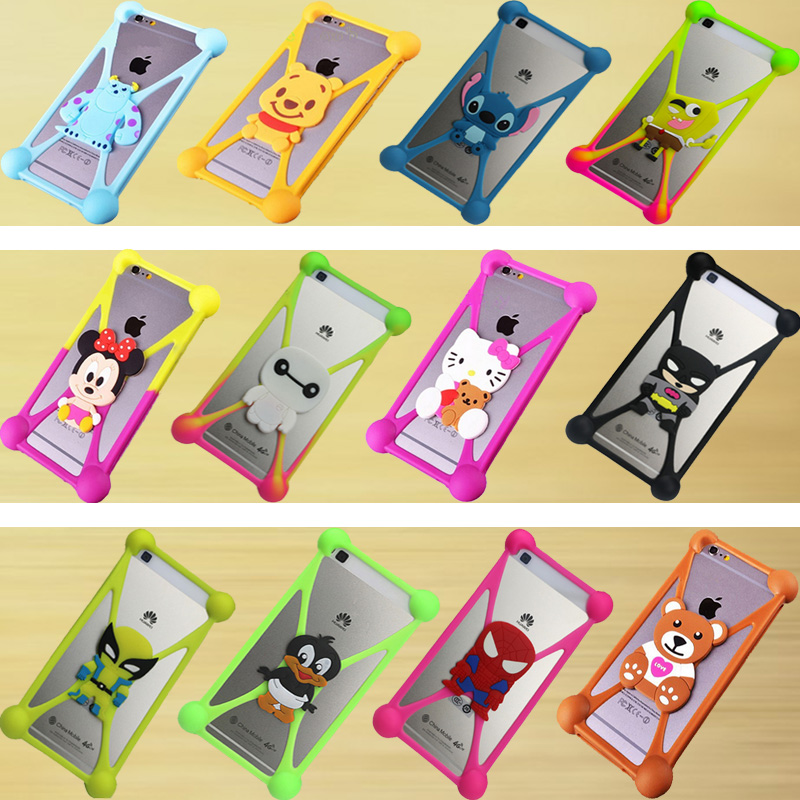Cute Cartoon Silicone Universal Cell Phone Holster Cases Fundas For Sony Xperia M C1905 Case Silicon Coque Cover(China (Mainland))