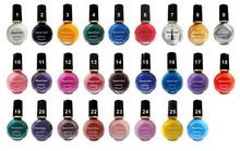 Fashion 26Colors to choose 6 bottles Professional Painting Konad Nail Varnish Manicure UV Nail Polish Gel For Nail Art(China (Mainland))