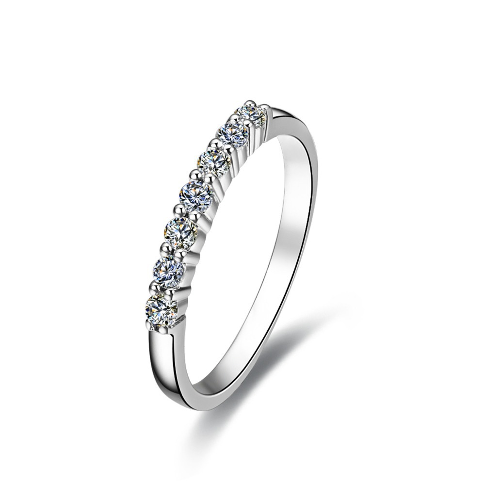 sterling silver wholesale 7stone 925 ring for women wedding band