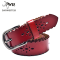 2016 new Women s wide 3cm strap genuine belts leather casual all match Women brief leather