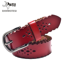 2016 new Women's wide 3cm strap genuine belts leather casual all-match Women brief leather belt women's strap belt