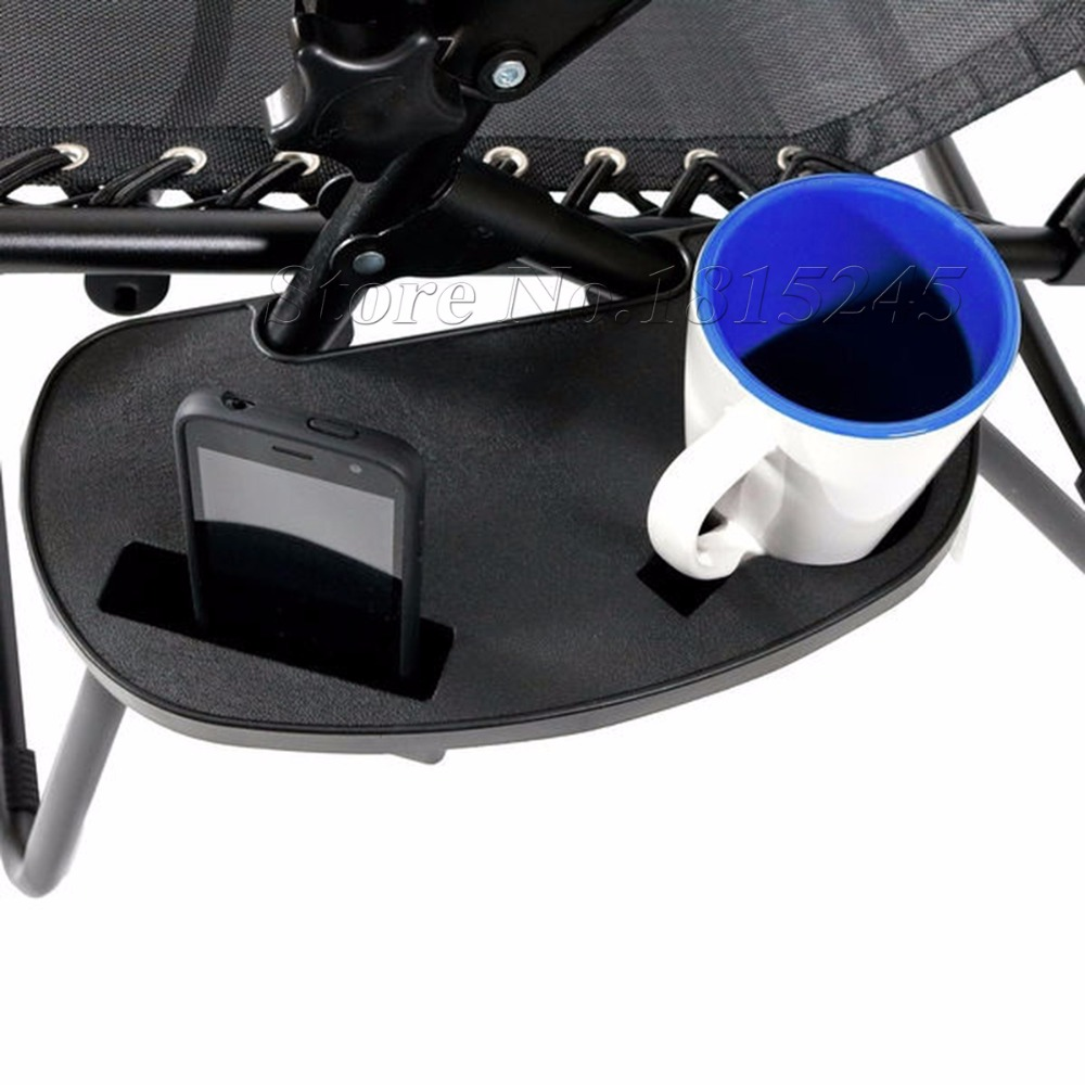 High Quality Clip-On Zero Gravity Chair Cup Holder With Mobile Device Slot and Snack Tray Cup Drink Mug MP3 Player Holder(China (Mainland))