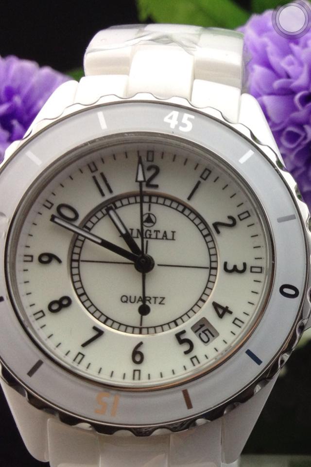 International fashion authentic precision ceramic watch waterproof quartz watch with calendar<br><br>Aliexpress