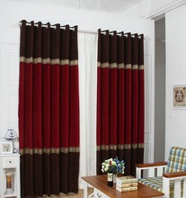 Shenille curtain with hooks or punching ,ready curtains, free trim for different size ,1687m68, customize curtains(China (Mainland))