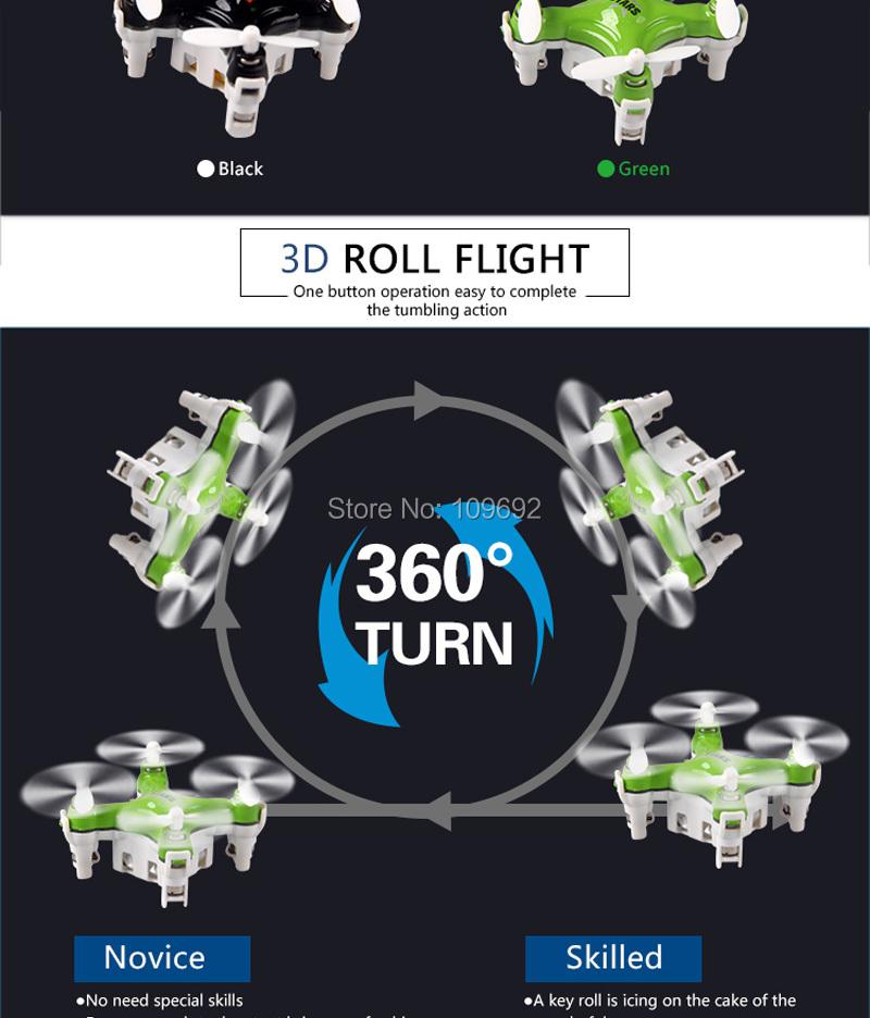 Hot Sale Original CHEERSON Mini CX-STARS RC Micro Quadrocopter 2.4G 4CH 6-Axis Pocket Drone UAV 3D Roll Helicopters VS FQ777-124