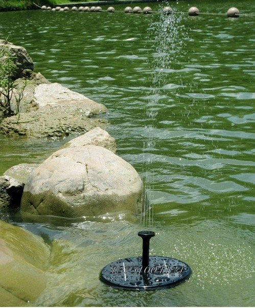 2010 new solar pump fountain pond pool water pump garden for Pond water system