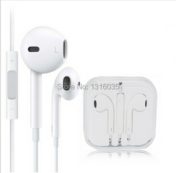 100% Original White 3.5mm In Ear headphones headset for Apple iPhone 5s 6 plus Samsung Xiaomi Meizu earphone with Remote and Mic(China (Mainland))