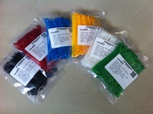 600Pcs/pack 3*100mm  width 2.5mm  Colorful Factory Standard Self-locking Plastic Nylon Cable Ties,Wire Zip Tie(China (Mainland))