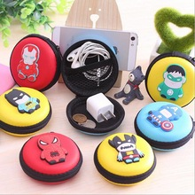 2016 New Novelty Super Heroes Silicone Coin Purse Key Wallet Mini Storage Organizer Bag Dual Earphone Holder Birthday Gift(China (Mainland))