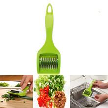 Stainless Kitchen Accessories Gadgets Blade Green Onion Chopper Slicer Garlic Coriander Cutter Chopper Vegatable Cooking Tools