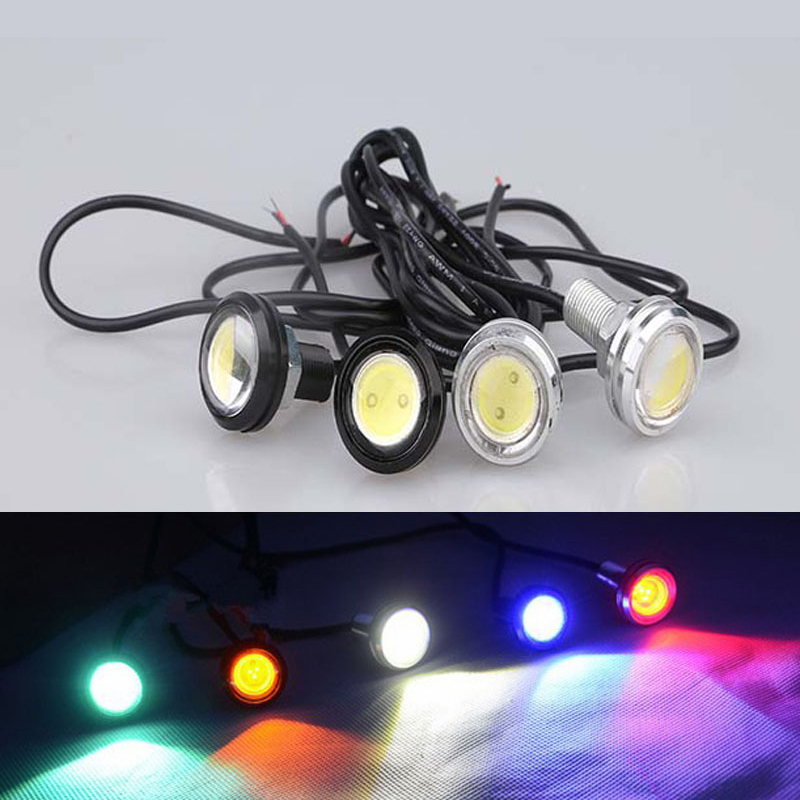18MM Led DRL Daytime Running Lights For All Cars Eagle Eye Parking Signal Lamps Back Light Reverse Light 10W LED DRL(China (Mainland))
