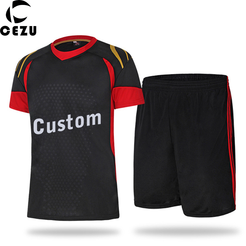 2016 2017 Men's Custom Soccer Jerseys Polyester Soccer Team Uniforms Training Sets Football Jerseys Sports Kits(China (Mainland))