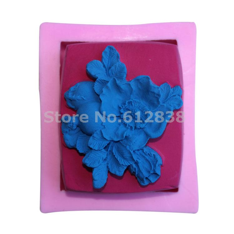 Free shipping 3D flower silicone Soap mold,molds silicone forms for soap, silica gel mould,silicon moulds wholesale G078(China (Mainland))