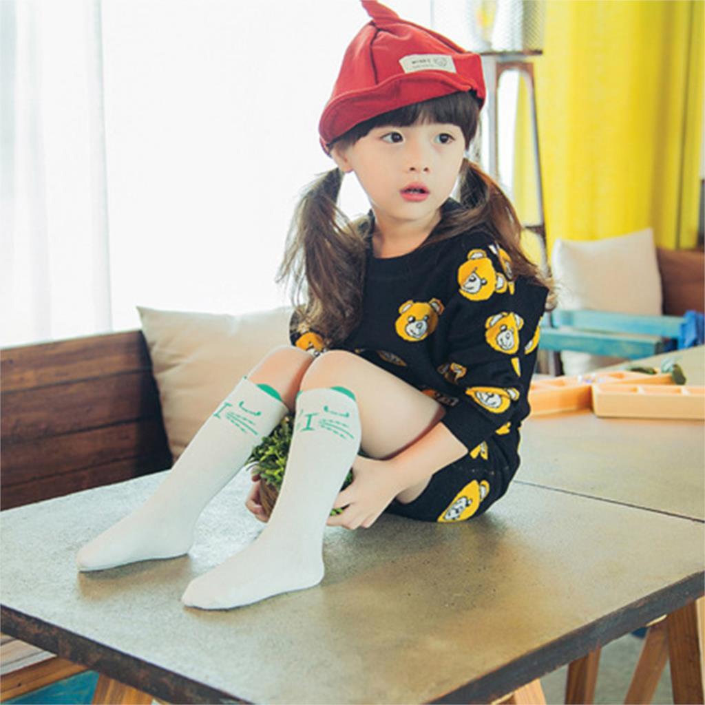 New Kid Socks Soft 100% Cotton Girl Boy Socks Print Geometry Animal Pattern Cartoon Cute Children Long Socks Baby Leg Warmers