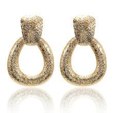 Boho Statement Jewelry Simulated Pearl Heart Earrings Round Square Geometric Earrings Metal Earrings Za Gold Vintage Earrings(China)