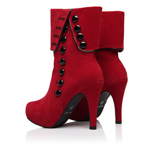 Big Size 35-43 Fashion Warm Winter Boots High Heels 2014 New Style