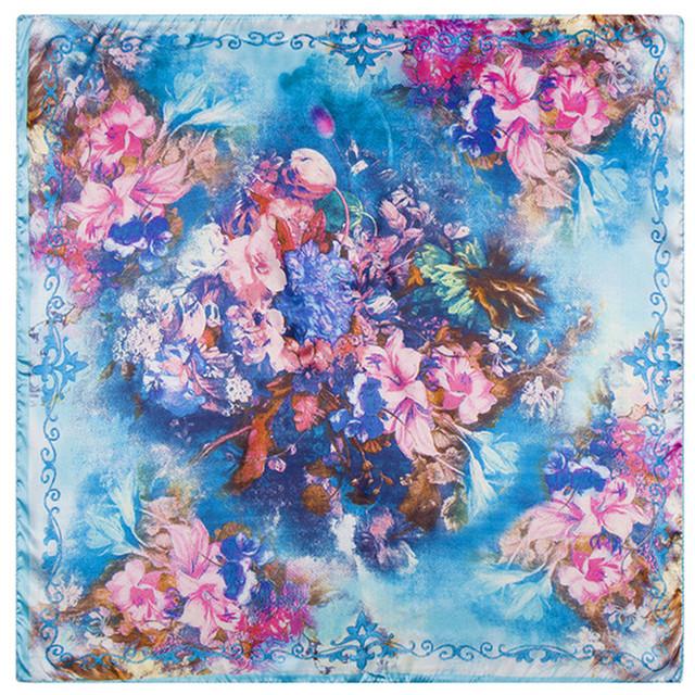 60 см * 60 см 2016 новый абстрактный цифровой цветок леди небольшой площади шелковый шарф шарфы оптовая занятий