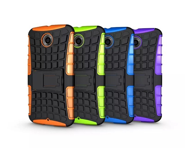 20pcs TPU+PC Hybrid Dual Armor Heavy Duty case For Motorola Google Nexus 6 case Protective Skin Double mix Color Shock