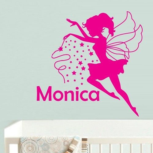Diy Wall Art Name : Free shipping fairy flower personalized any name art