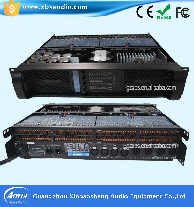 High quality amplifier FP10000q 4 channels pro power amplifier pa system(China (Mainland))