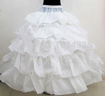 2016 new Free Shipping White 4 Hoops 5 Layers Ball Gown Wedding Bridal Petticoat Underskirt Crinolines Wedding Dress Accessories(China (Mainland))