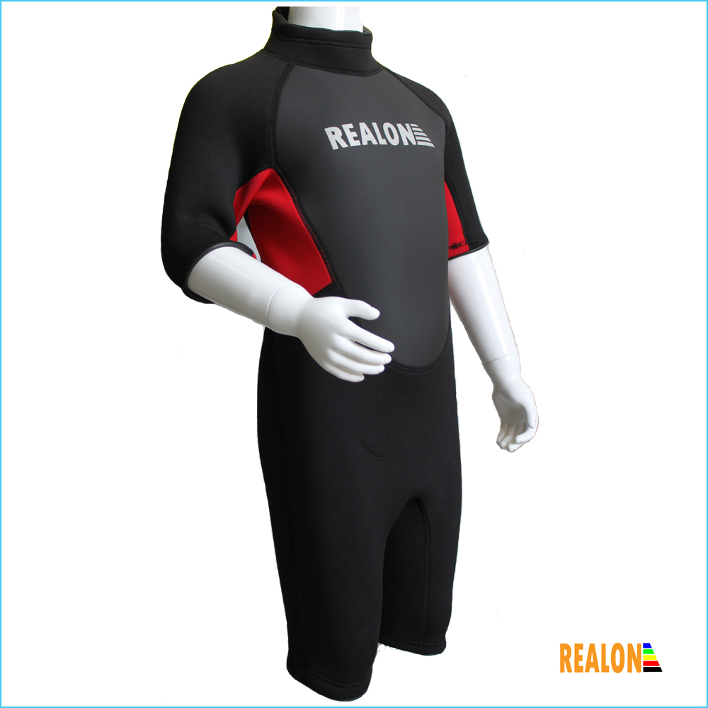 Fashion Top Design 3mm Kids Neoprene Wetsuit Shorts Diving Wetsuit Pattern Surfing Swimming suit Factory supply Free shiiping(China (Mainland))