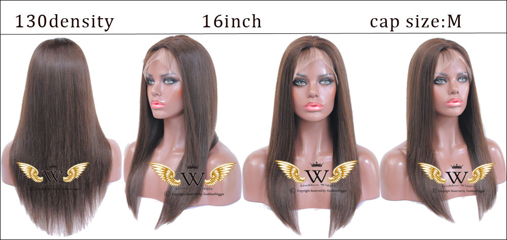 Brown Silky Straight Full Lace Wig Human Hair Remi Wigs Glueless Full Lace Straight Human Hair Wigs With Baby Hair