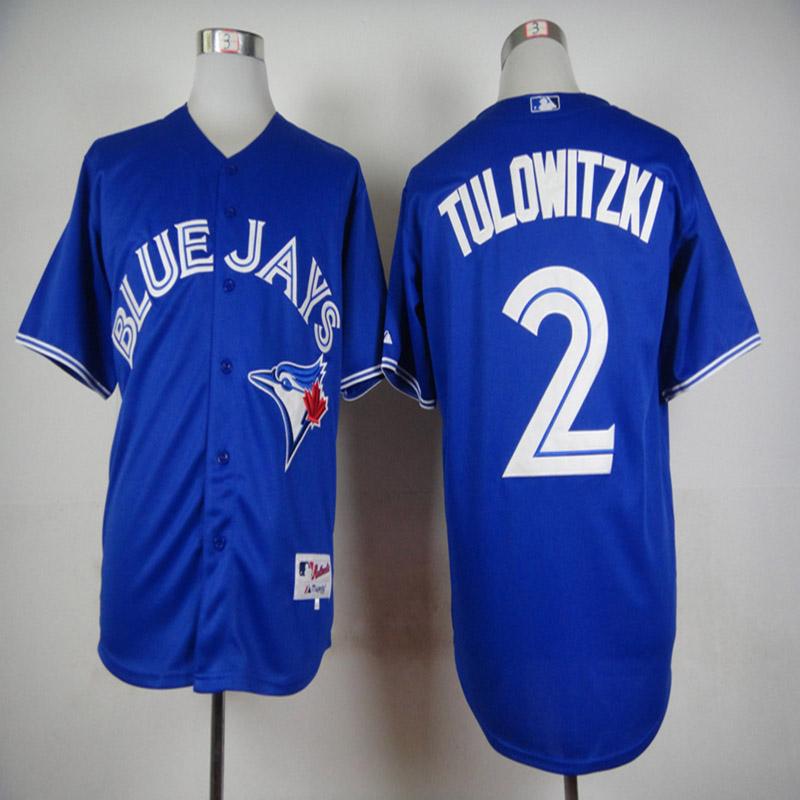 New Design Mens Toronto Blue Jays 2 Troy Tulowitzki Baseball Jerseys Alternate Throwback 100% Stittched Logo(China (Mainland))