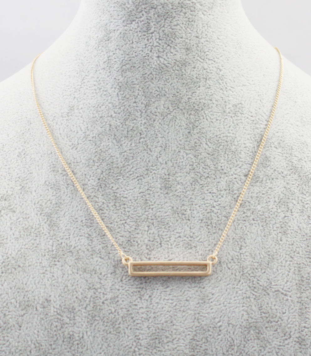 Fashion Geometric Hollow Rectangle Short Pendant Necklace Womens Jewelry Gold Plated Simple Delicate Clavicle Chains Darker(China (Mainland))