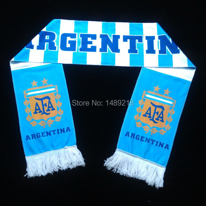 25 teams designs you can choose Brazil soccer scarf , football badges Printed Argentina scarf souvenir(China (Mainland))