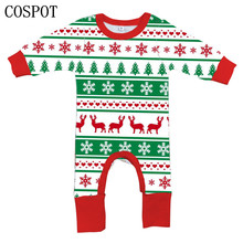 Buy COSPOT Baby Girls Boys Christmas Romper Newborn Autumn Winter Jumpsuits Kids Cotton Fashion Xmas Pajamas 2017 New Arrival 40C for $7.79 in AliExpress store
