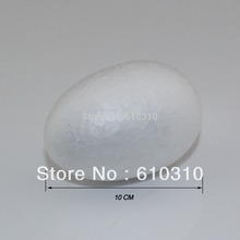 Free shipping wholesale 10cm natural white styrofoam oval eggs for DIY toy body accessory(24pcs/lot)(China (Mainland))