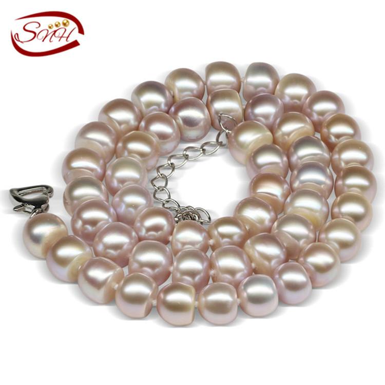 9-10mm button purple color statement necklace<br><br>Aliexpress